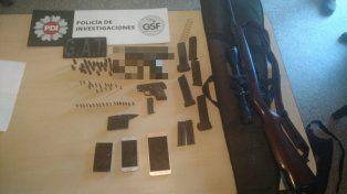 Tres armas, decenas de balas y un hombre violento que terminó preso