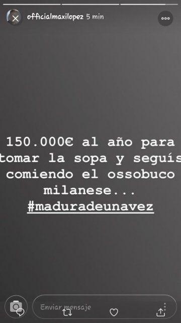 Maxi López reveló la millonaria cifra que le pasa a Wanda Nara