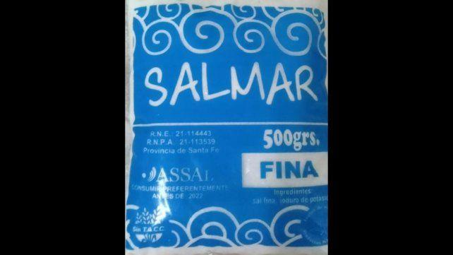 La Assal prohibió la sal de la marca Salmar