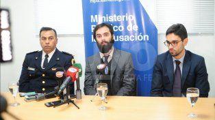 Detalles. Los fiscales brindaron una conferencia de prensa este viernes en el MPA.