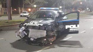 Violento choque entre patrulleros durante una persecución policial