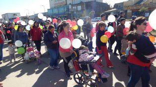 Cuarta caminata por la inclusión y festejo del Día del Niño en Blas Parera