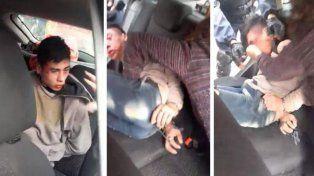 Mamá de víctima de robo golpeó y le estrujó los testículos a ladrón