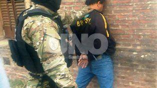 M.A.B. fue detenido en la ciudad cordobesa de Cosquín