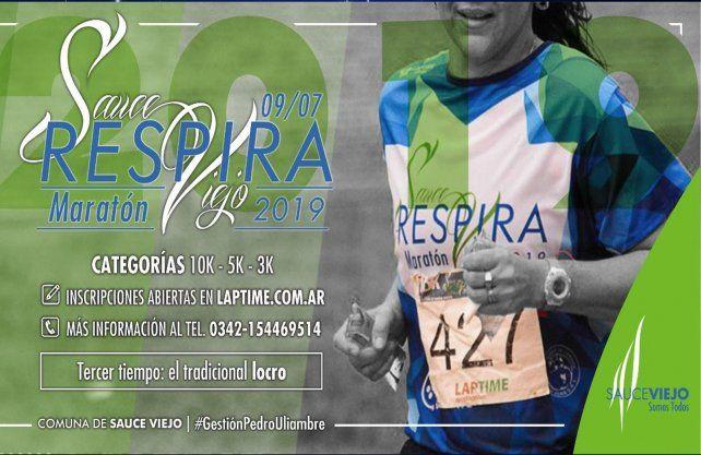 Se realizará la maratón Respira Sauce Viejo