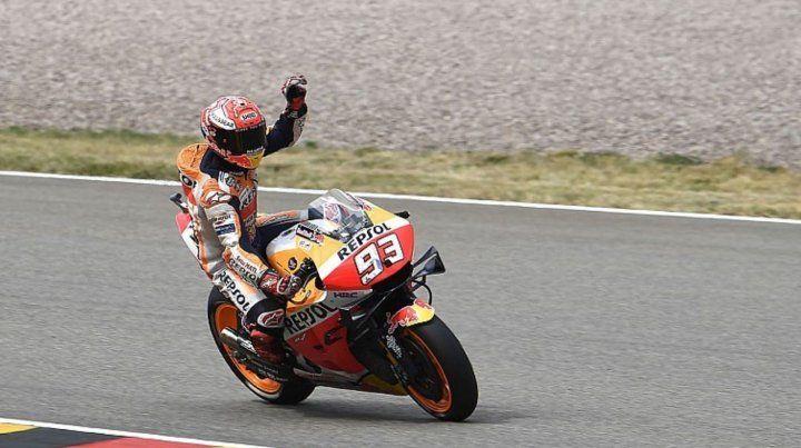 Marc Márquez ganó en Sachsenring y se cortó en la cima del Mundial de MotoGP