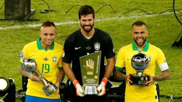 Brasil acaparó todos los premios individuales de la Copa América