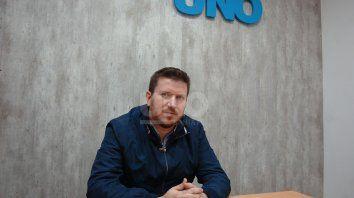 Federico Angelini. El actual diputado provincial, encabeza una de las listas de precandidatos a diputados nacionales de Juntos por el Cambio.