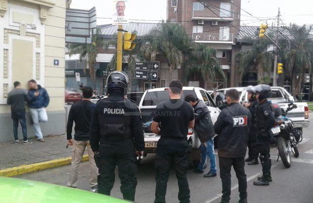 Parte de los hombres que integraban la banda y fueron detenidos en la ciudad de Santa Fe.