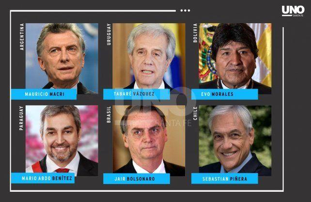<b>Presidentes. </b>Los líderes de la región que estarán en <a href=