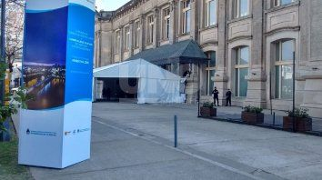 El centro de convenciones Estación Belgrano ya recibe a las delegaciones del Mercosur.