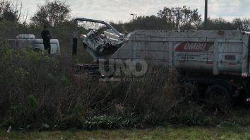 Las imágenes del camión tras el accidente.