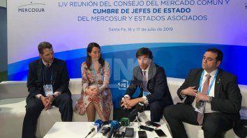 Reyser, en el centro, junto a Pedro Miguel da Costa e Silva (Brasil), Valeria Csukasi (Uruguay) y Juan Ángel Delgadillo (Paraguay).