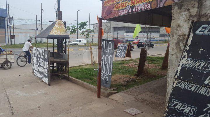 El local comercial dónde se produjo la pelea en el norte de la ciudad.