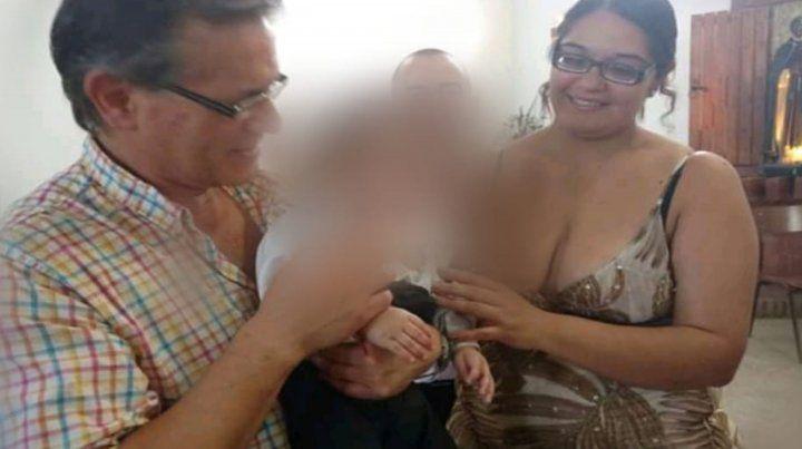 Horacio Borda junto a su pareja