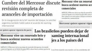 Repercusiones. Medios de países miembros del Mercosur destacan los acuerdos que se den en Santa Fe.