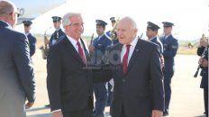 Arribo. Miguel Lifschitz recibió al presidente de Uruguay, Tabaré Vázquez