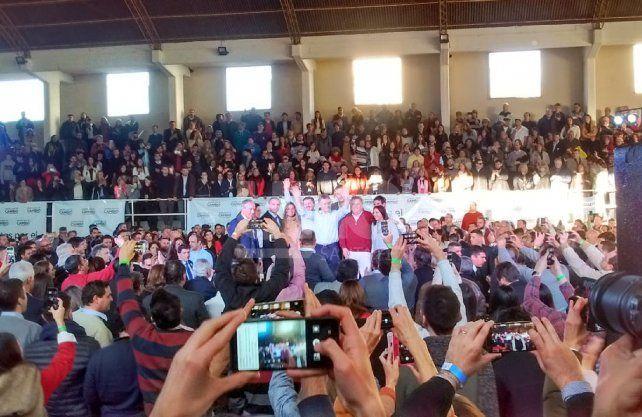 Macri habló ante unas 400 personas en el club Ateneo.