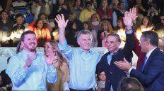 Angelini, García, Macri y Pichetto durante la campaña electoral.
