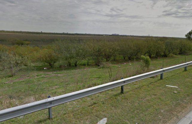Circunvalación oeste. La zona donde habría sido hallado el cuerpo.