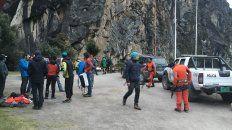 Labores de rescate tras el accidente mortal de Ian Shwer y Juan Pablo en el Nevado Caraz (Perú)
