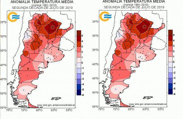 Mapa lluvias durante el invierno 2019