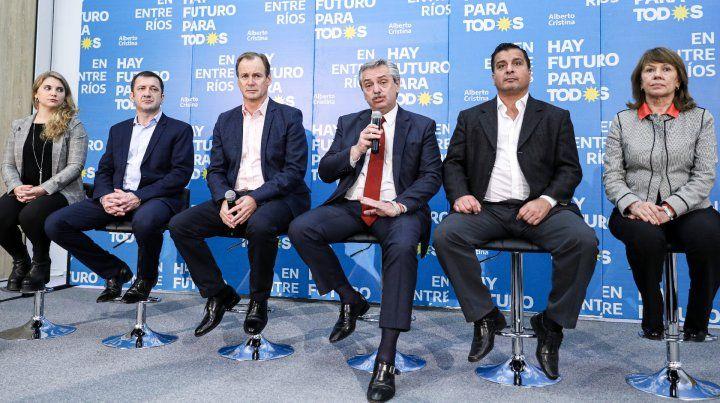 Alberto Fernández estuvo en Paraná y brindó una conferencia de prensa junto al gobernador de Entre Ríos
