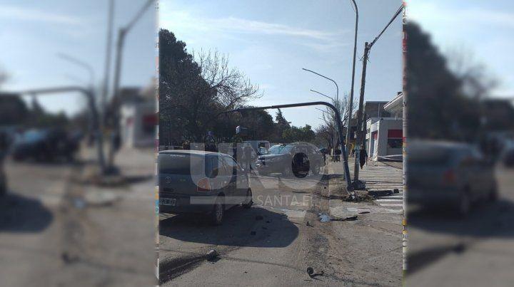 Accidente.El impacto ocurrió en Av. Freyre y Mendoza