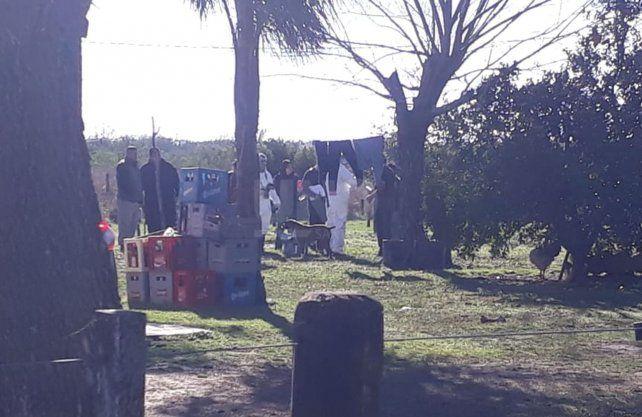 Imágenes del trabajo de la PDI en el lugar dónde encontraron el cuerpo del niño.