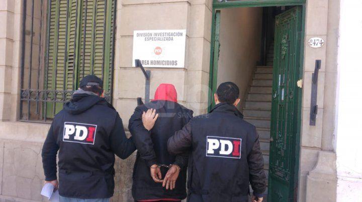 El detenido en barrio San Agustín.