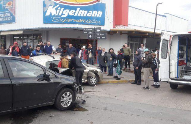 Imágenes del accidente en barrio Los Hornos.