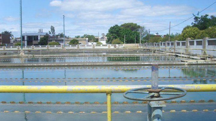 La planta potabilizadora de aguas en la ciudad de Santa Fe.