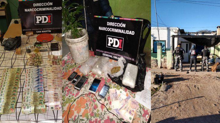 Apresaron a nueve integrantes de una organización narcocriminal