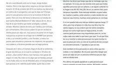 El mensaje de la sobreviviente de Carlos Baldomir