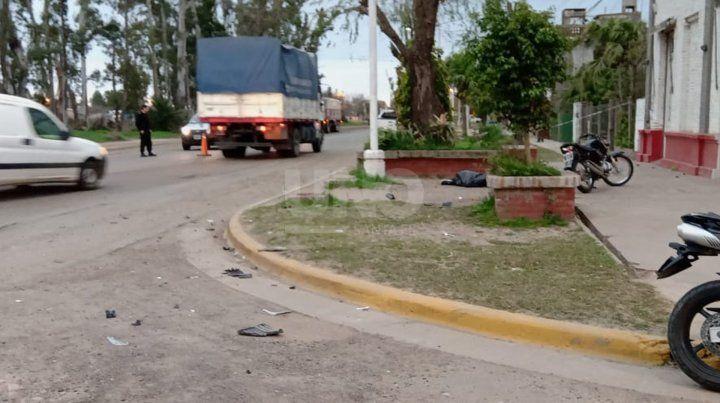El lugar del accidente.