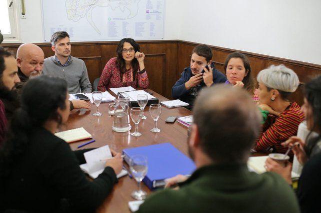 Reunión.Participaron la secretaria de Gobierno