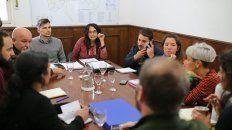 Reunión.Participaron la secretaria de Gobierno, Malena Azario y el secretario de Obras Públicas, Lucas Condal, además de funcionarios de las secretarías de Cultura y Planeamiento Urbano.
