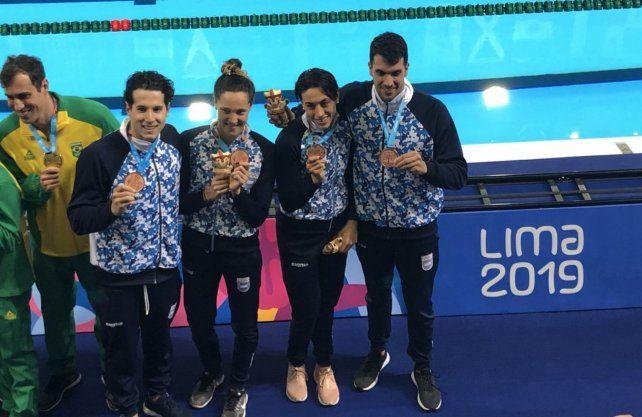 La natación sumó otras tres medallas