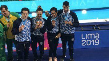 la natacion sumo otras tres medallas