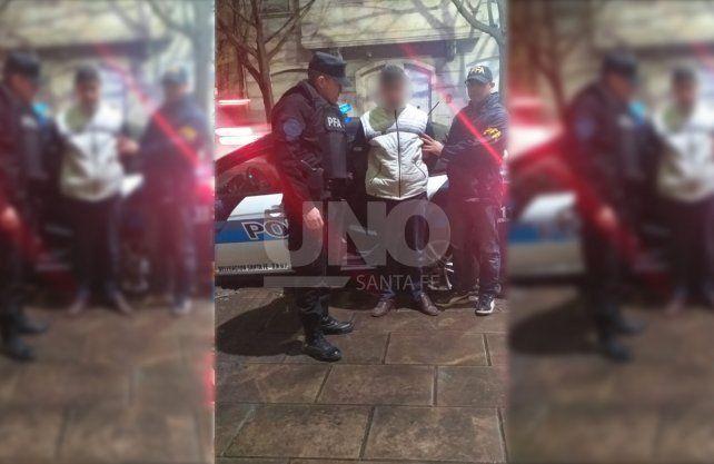 Prófugo.El hombre fue detenido en la estación de colectivos Manuel Belgrano