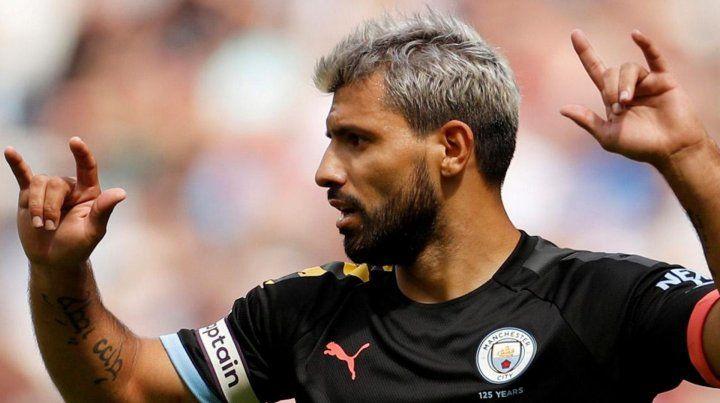 El Kun Agüero dejó su sello en la goleada del Manchester City