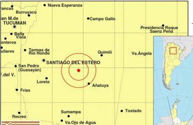 Santiago del Estero fue el epicentro de un sismo de 5 grados