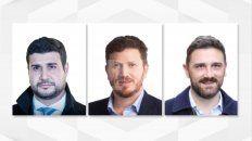 Marcos Cleri (Frente de Todos), Federico Angelini (Juntos por el Cambio) y Enrique Estévez (Consenso Federal), son quienes encabezan las listas con posibilidades de repartirse las 10 bancas que se renuevan por Santa Fe.