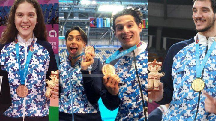 La ciudad le dio nueve medallas a la delegación argentina en Lima 2019
