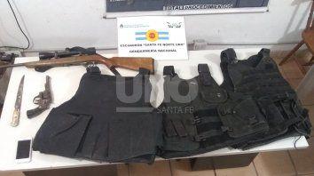 Los elementos secuestrados por Gendarmería.