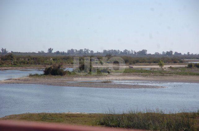 Bajante. Así está hoy el río Salado.