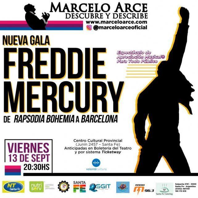 Marcelo Arce presenta una nueva gala de Freddie Mercury