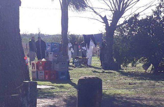Imágenes del trabajo de la PDI en el lugar dónde encontraron el cuerpo del niño. UNO Santa Fe