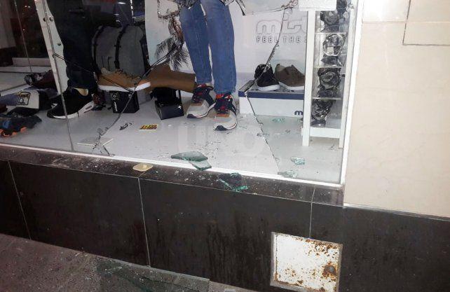 Imagen de uno de los locales robados en la madrugada