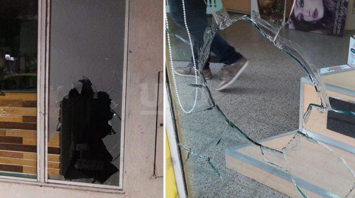 Varios comercios sufrieron vandalismo y robo en la zona del centro